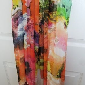 Lucy Dresses - NWT Lucy colorful floral high low dress size M